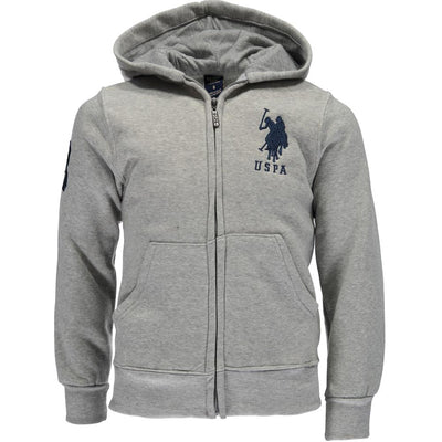 U.S. Polo Assn. Boys 4-7 Zip-Up Fleece Hoodie Sweatshirt
