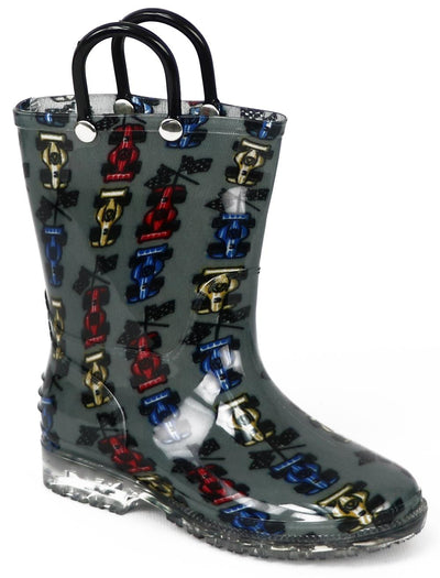 Shocked Toddler Boys 5-12 Printed Rainboots