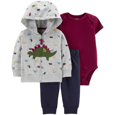 Carters Boys 0-24 Months Dinosaur 3-Piece Jacket Set