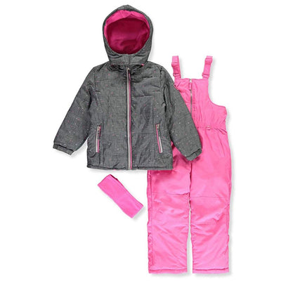 Pink Platinum Girls Dot Heather Snowsuit