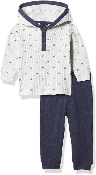 Calvin Klein Boys 12-24 Months Thermal Hooded Pant Set
