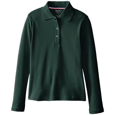 French Toast Girls 4-20 Long-Sleeve Interlock Polo - S&D Kids