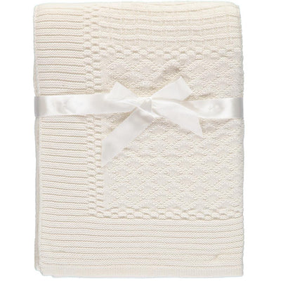 Baby Dove Unisex Baby Patchwork Knit Blanket