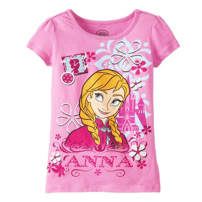 Disney Girls 4-6X Short Sleeve Frozen Tee