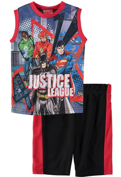 DC Comics Boys 4-7 Tank Top Short Set