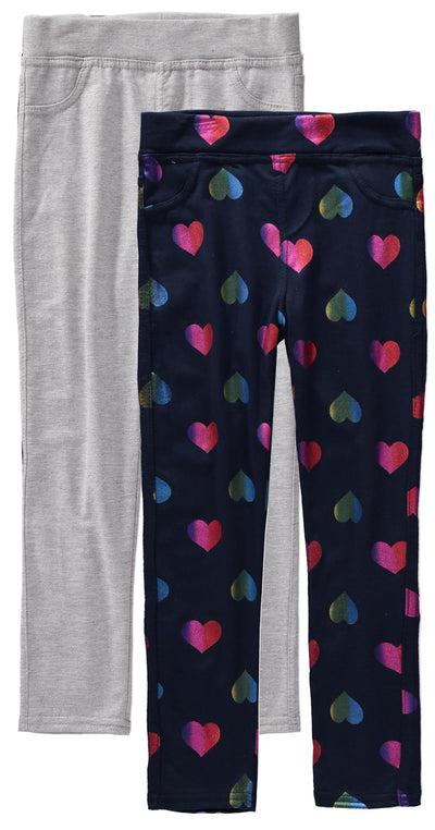 Colette Lilly Girls 7-16 Rainbow Heart 2-Pack Jegging