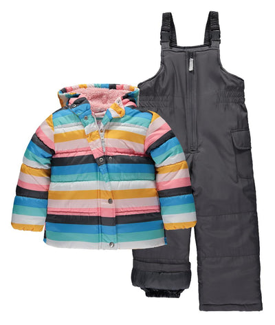 Carters Girls Printed 2-Piece Snowsuit