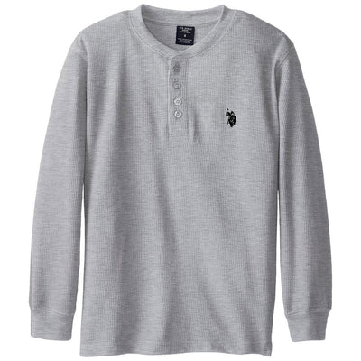 U.S. Polo Association Boys 4-7 Thermal Henley