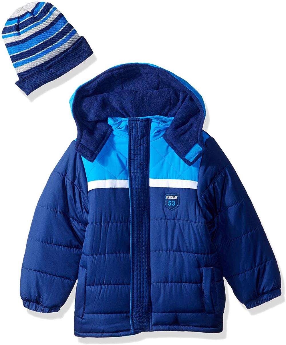 iXtreme Color-block Puffer Jacket W/ Hat