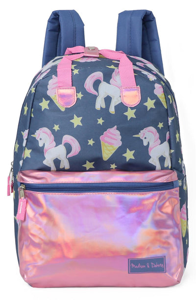 Madison & Dakota Girls Metallic Printed Backpack