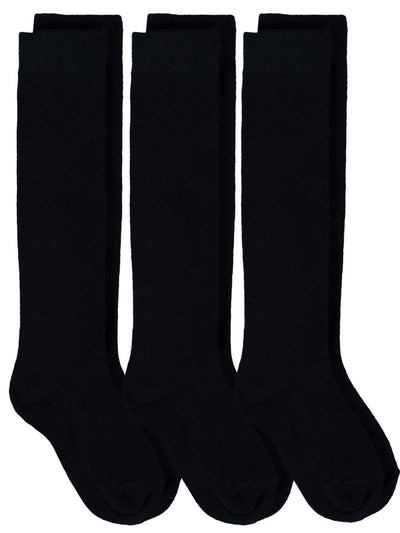 Piccolo Hosiery Girls School Uniform Knee-High Sock, Pack of Three