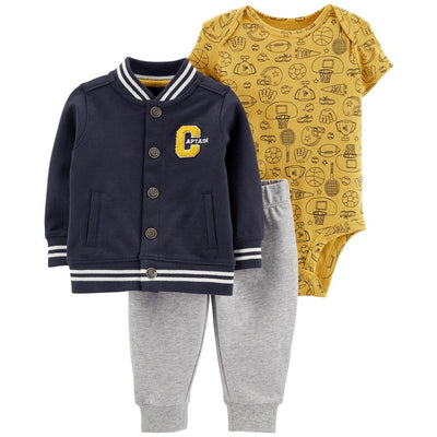 Carters Boys 0-24 Months Varsity 3-Piece Jacket Set
