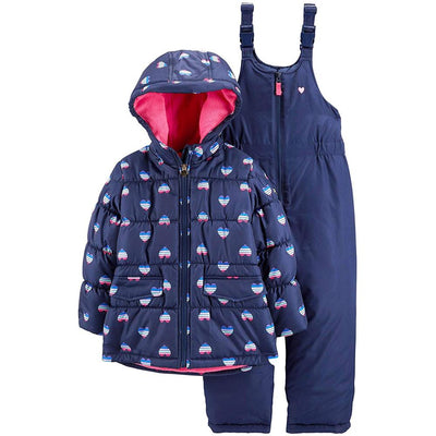 Osh Kosh Girls Fleece Lined 2-Piece Snowsuit