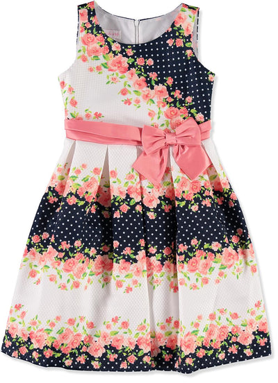 Bonnie Jean Girls 7-16 Floral Pique Dress