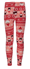 Derek Heart Girls 7-14 Santa Claus Legging