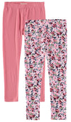One Step Up Girls 2T-4T Floral 2-Pack Legging