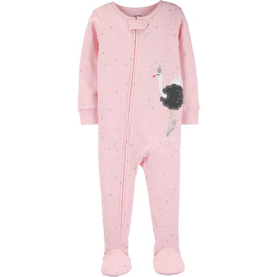 Carters Girls 2T-5T Ostrich Cotton Sleeper
