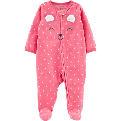 Carters Girls 0-9 Months Mouse Microfleece Sleep and Play