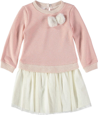 Bonnie Jean Girls 2T-4T Fur Bow Dress