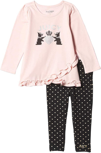 Juicy Couture Girls 12-24 Months Puppy Foil Legging Set