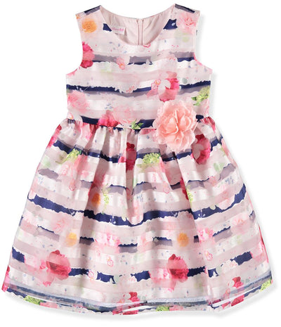 Bonnie Jean Girls 4-6X Paula Floral Party Dress