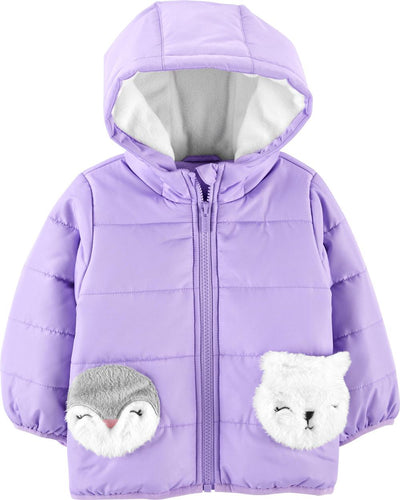 Carters Girls 4-6X Animal Pockets Jacket