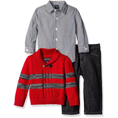 Nautica Boys 12-24 Months 3-Piece Sweater Pant Set
