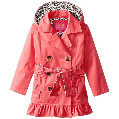 Pink Platinum Girls 7-16 Ruffled Trench Coat