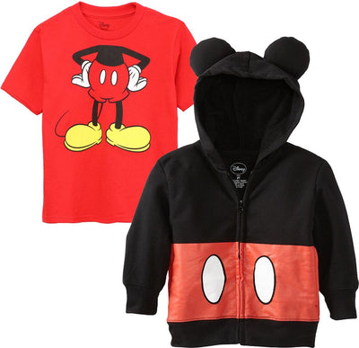 Disney Boys' 2T-4T Mickey Mouse Tail Hoodie T-Shirt Set