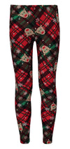 Derek Heart Girls 7-14 Plaid Reindeer Legging