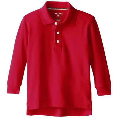 French Toast Boys 2T-4T Long Sleeve Pique Polo