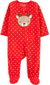 Carters Girls 0-9 Months Reindeer Microfleece Sleep and Play