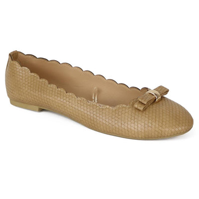 Chatties Womens Faux Snake Skin Ballet Flats