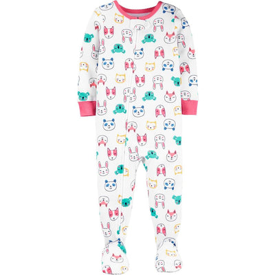 Carters Girls 12-24 Months Critter Cotton Sleeper