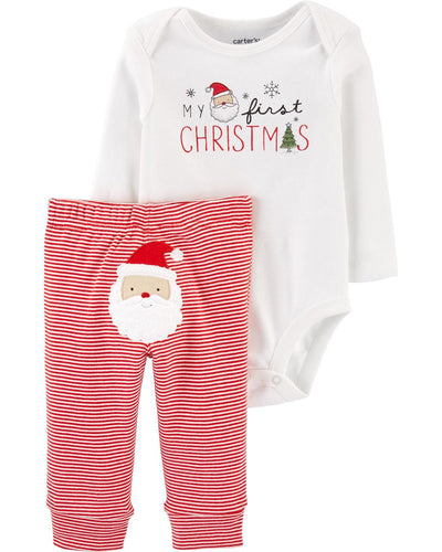 Carters Boys 12-24 Months Christmas Bodysuit Pant Set