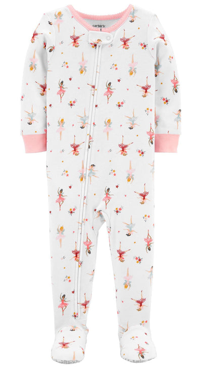 Carters Girls 2T-4T Ballerina 1-Piece Cotton Pajama