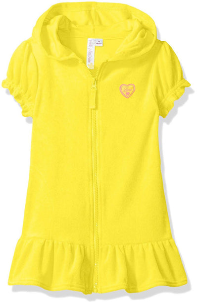Pink Platinum Girls 2T-4T Terry Swim Coverup