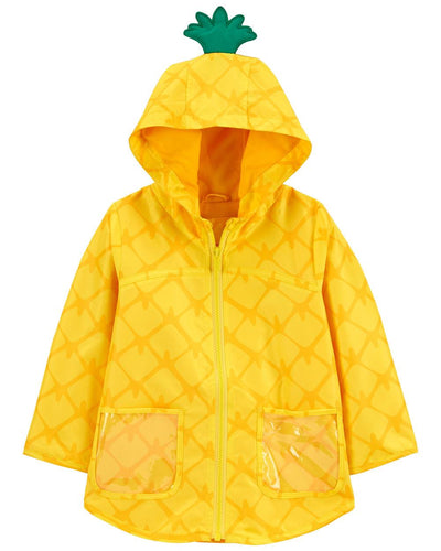 Carters Girls 4-6X Pineapple Rain Slicker