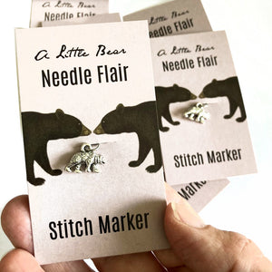 Bear knitting flair. Stitch marker or progress keeper