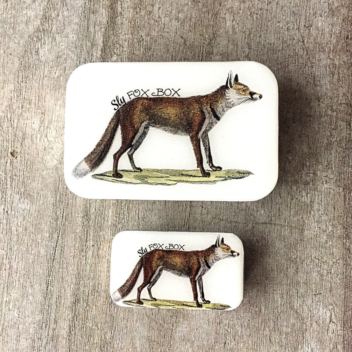 Sly fox tin