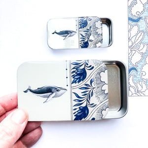 Whale notions tin