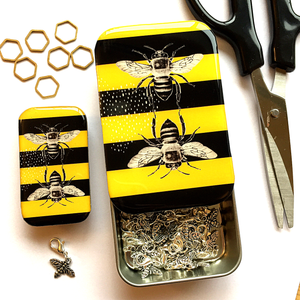 Bee notions tin
