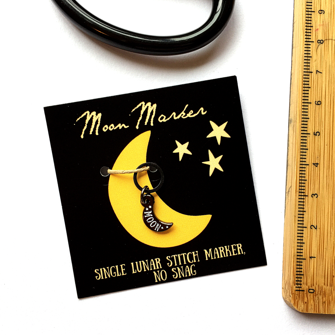 Moon stitch marker- single