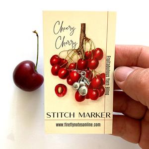 Cherry stitch marker