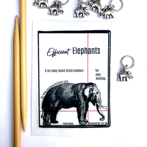 Elephant stitch marker pack