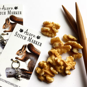 Acorn stitch marker, 10 mm snag free or removable