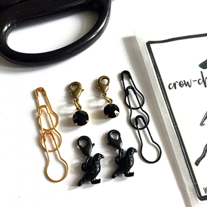 Crow-chet crochet stitch marker pack