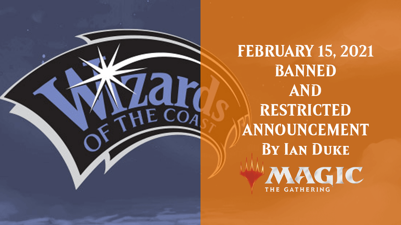 FEBRUARY 15, 2021 BANNED AND RESTRICTED ANNOUNCEMENT By Ian Duke