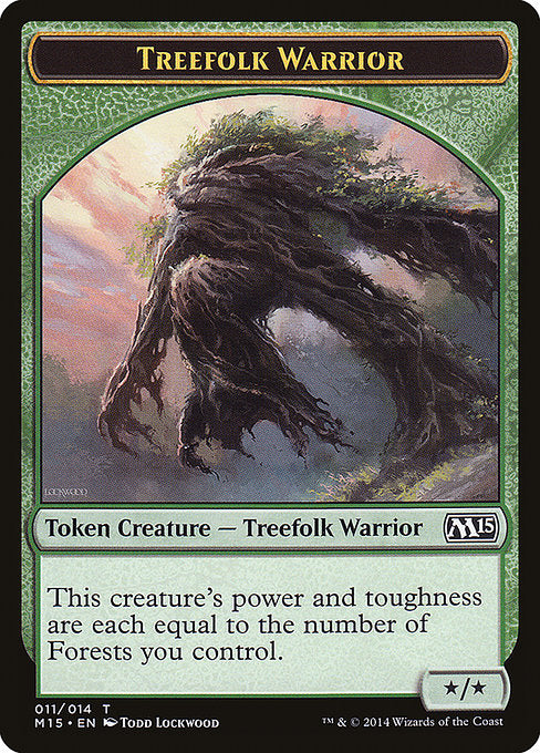 Treefolk Warrior [Magic 2015 Tokens] | Affinity Games