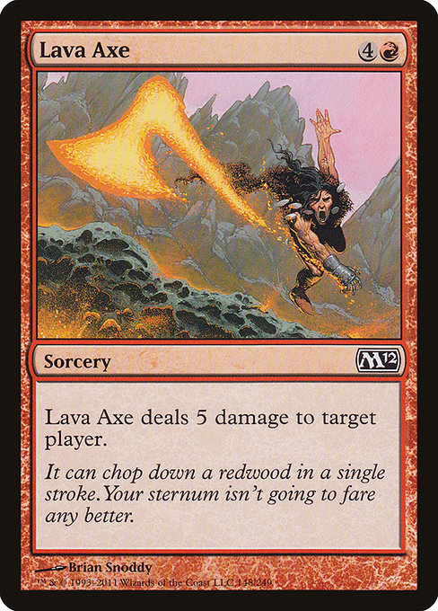 Lava Axe [Magic 2012] | Affinity Games